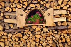 στοίβα καυσόξυλου Στοκ φωτογραφία με δικαίωμα ελεύθερης χρήσης