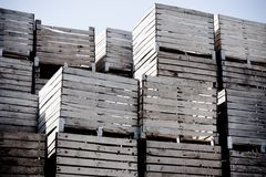 στοίβα κλουβιών Στοκ εικόνα με δικαίωμα ελεύθερης χρήσης