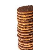 Στοίβα μπισκότων σοκολάτας Στοκ Φωτογραφίες