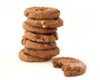 στοίβα μπισκότων σοκολάτ&a στοκ εικόνα