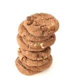 στοίβα μπισκότων σοκολάτ&a στοκ εικόνα με δικαίωμα ελεύθερης χρήσης