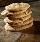 Στοίβα μπισκότων τσιπ σοκολάτας Στοκ φωτογραφίες με δικαίωμα ελεύθερης χρήσης