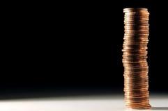 στοίβα νομισμάτων Στοκ εικόνες με δικαίωμα ελεύθερης χρήσης