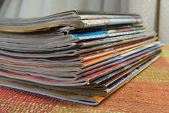 στοίβα περιοδικών Στοκ εικόνες με δικαίωμα ελεύθερης χρήσης