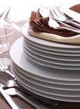 στοίβα πιάτων μαχαιροπήρο&ups Στοκ Εικόνες
