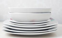 στοίβα πιάτων Στοκ Εικόνα