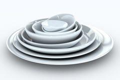 στοίβα πιάτων Στοκ εικόνες με δικαίωμα ελεύθερης χρήσης