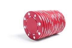 στοίβα πόκερ τσιπ Στοκ Εικόνες