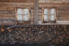 Στοίβα του καυσόξυλου Στοκ εικόνα με δικαίωμα ελεύθερης χρήσης