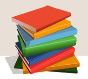 Στοίβα των βιβλίων χρώματος Στοκ Εικόνες