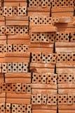 Στοίβα των κόκκινων τούβλων Στοκ Εικόνα