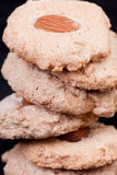 Στοίβα των μπισκότων αμυγδάλων Στοκ Φωτογραφίες