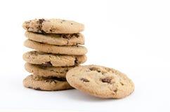 Στοίβα των μπισκότων σοκολάτας Στοκ Εικόνες