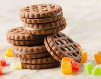 Στοίβα των μπισκότων Στοκ Εικόνα