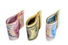 Στοίβα των νομισμάτων που στέκονται μέσα Στοκ Εικόνες