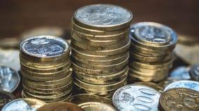 Στοίβα των νομισμάτων Στοκ φωτογραφία με δικαίωμα ελεύθερης χρήσης