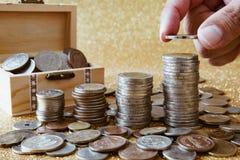 Στοίβα των νομισμάτων Στοκ Εικόνες