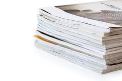 Στοίβα των περιοδικών Στοκ Εικόνα