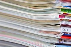 Στοίβα των περιοδικών Στοκ εικόνες με δικαίωμα ελεύθερης χρήσης