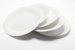 Στοίβα των πιάτων εγγράφου Στοκ εικόνα με δικαίωμα ελεύθερης χρήσης