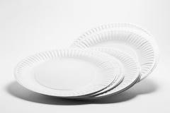 Στοίβα των πιάτων εγγράφου Στοκ Φωτογραφία