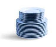 Στοίβα των πιάτων Στοκ Εικόνες