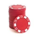 Στοίβα των τσιπ πόκερ στοκ εικόνες με δικαίωμα ελεύθερης χρήσης