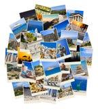 Στοίβα των φωτογραφιών ταξιδιού της Ελλάδας Στοκ φωτογραφία με δικαίωμα ελεύθερης χρήσης