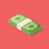 Στοίβα των χρημάτων Στοκ Εικόνες