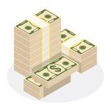 Στοίβα των χρημάτων απεικόνιση αποθεμάτων