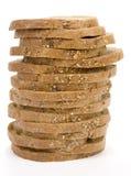 στοίβα φετών ψωμιού Στοκ Εικόνες