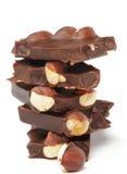 στοίβα φουντουκιών σοκολάτας Στοκ Εικόνες