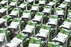 Στοίβα χρημάτων 100 ευρώ Στοκ φωτογραφίες με δικαίωμα ελεύθερης χρήσης