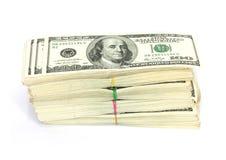 Στοίβα $100 λογαριασμών Στοκ Εικόνα