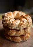 Στοίβα bagels Στοκ φωτογραφία με δικαίωμα ελεύθερης χρήσης