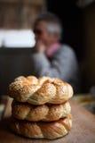 Στοίβα bagels Στοκ φωτογραφίες με δικαίωμα ελεύθερης χρήσης