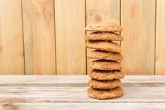 Στοίβα oatmeal των μπισκότων Στοκ Εικόνες
