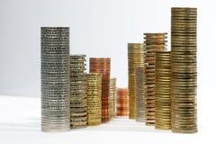 στοίβες νομισμάτων Στοκ εικόνες με δικαίωμα ελεύθερης χρήσης