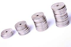 στοίβες νομισμάτων Στοκ εικόνα με δικαίωμα ελεύθερης χρήσης
