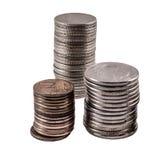 στοίβες τρία νομισμάτων Στοκ Φωτογραφία