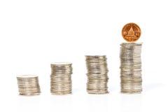 Στοίβες των νομισμάτων Στοκ φωτογραφία με δικαίωμα ελεύθερης χρήσης