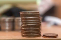 Στοίβες των νομισμάτων Στοκ Εικόνα