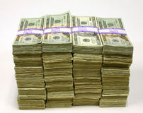 στοίβες χρημάτων Στοκ εικόνες με δικαίωμα ελεύθερης χρήσης