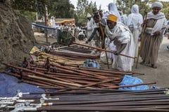 Στοίχημα Gabriel-Rufael σε Lalibela, Αιθιοπία Στοκ Εικόνες