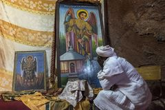 Στοίχημα Giyorgis σε Lalibela, Αιθιοπία Στοκ Εικόνα