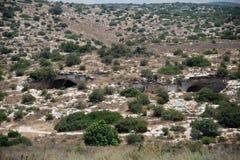 Στοίχημα Guvrin, Ισραήλ - είσοδοι σπηλιών στοκ εικόνα με δικαίωμα ελεύθερης χρήσης