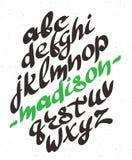 στοιχεία αλφάβητου που το διάνυσμα συρμένες επιστολές χερ&iota font Στοκ εικόνα με δικαίωμα ελεύθερης χρήσης