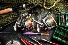 Στοιχεία για την αλιεία των εξελίκτρων ράβδων Στοκ Φωτογραφία