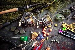Στοιχεία για την αλιεία των εξελίκτρων ράβδων Στοκ Εικόνες