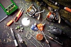 Στοιχεία για την αλιεία των εξελίκτρων ράβδων Στοκ εικόνες με δικαίωμα ελεύθερης χρήσης